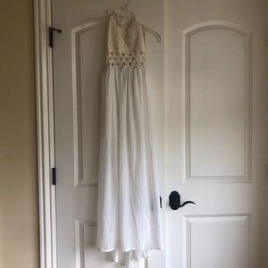 Dresses & Skirts - Brand new, crochet white maxi